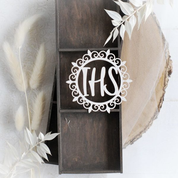 first holy communion ihs host decorative laser cut chipboard