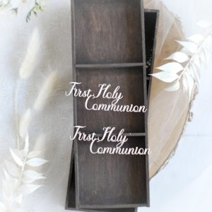 first holy communion words set decorative laser cut chipboards